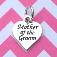 Heart Charm - Mother of the Groom