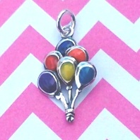 Balloons Charm with Enamel